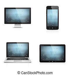 Electronic devices - Realistic high detailed vector...
