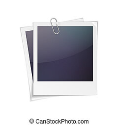 Photo frame - Vector illustration of polaroid photo frame...