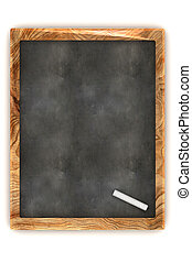 Blank Blackboard - A Colourful 3d Rendered Blank Blackboard...
