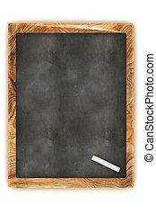 Blank Blackboard - A Colourful 3d Rendered Blank Blackboard...