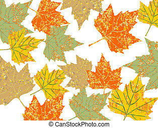 colorful maple leaves background eps 10