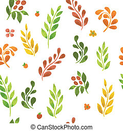Autumn leafs pattern - Vector illustration of Autumn leafs...