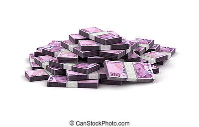 Stack of Turkish Lira