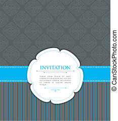 Invitation template - Vector illustration of