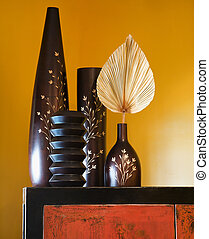 Asian interior style. - Still life of interior with Asian...