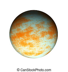Jupiter - Illustration of Jupiter planet isolated on white...