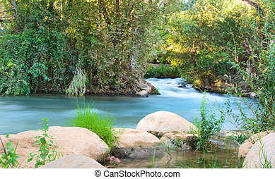 Jordan River - Jordan River at the Hazbani, one of the...