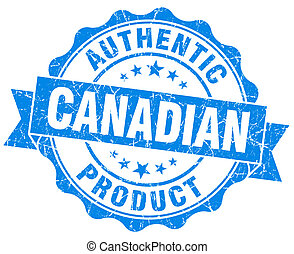 Canadian product blue grunge stamp