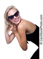 Funny girl in glasses