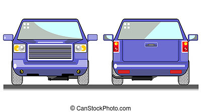 Pickup Truck - Illustration of a pick-up truck viewed from...