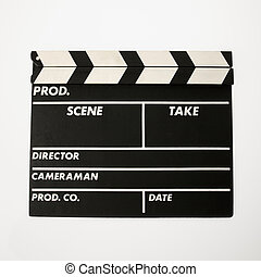 Movie clapboard - Movie scene clapboard with blank copy...
