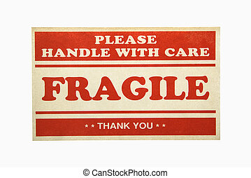 Fragile sign.