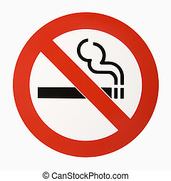 No smoking logo - No smoking logo against white background