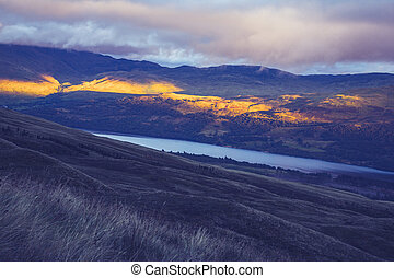 Sunset over Loch Tay, Scotland