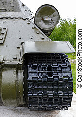 exhaust pipe of the tank t-34 and the back of the tank to...