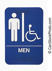 Men restroom sign.