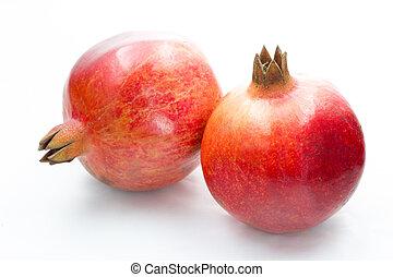 Pomegranate fruit - Ripe pomegranate fruit isolated on white...