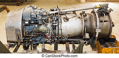 jet engine close-up - the interior of the old jet engine...