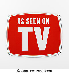 As seen on TV. - As seen on TV sign.