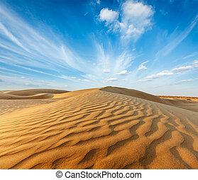 Dunes of Thar Desert, Rajasthan, India - Dunes of Thar...