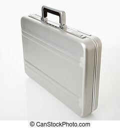 Silver briefcase - Silver metal briefcase