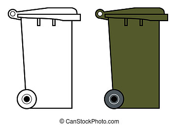 Wheely bin Clipart and Stock Illustrations. 15 Wheely bin vector ...