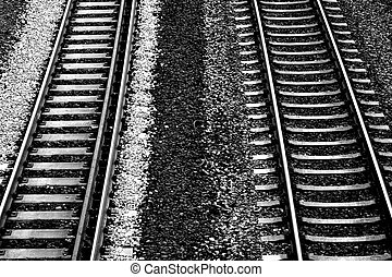 Roadbed - The plan view of a track bed of the German rail...