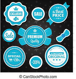 Vector Holiday Sale Badges Stickers