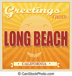 Vintage Long Beach, California poster