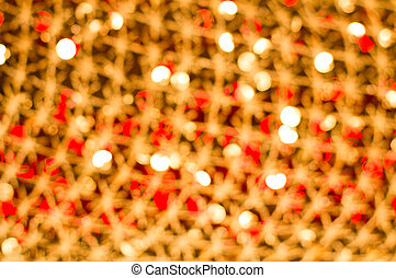 Red golden glowing background. Christmas card.