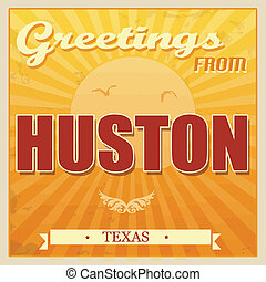 Vintage Huston, Texas poster