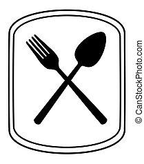Spoon and fork.  - Spoon and fork - vector illustration.