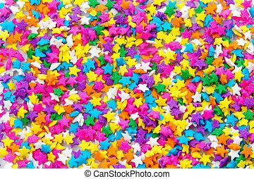 Sugar Sprinkles - Colorful Sugar Star Sprinkles Background