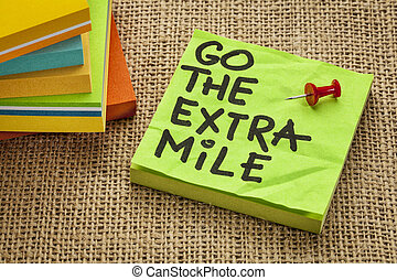 go the extra mile - motivational reminder or procrastination...