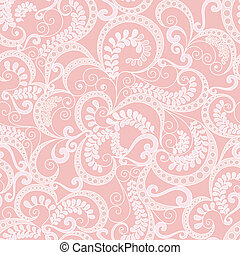 ornate seamless pattern on pink background - ornate light...