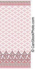 Pink seamless pattern with wide border