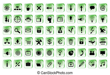 set of 60 computer icons for your website