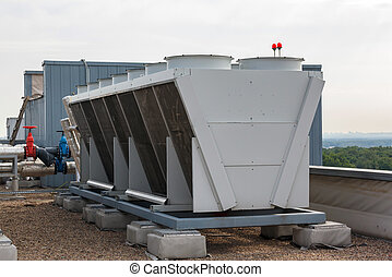 Industrial air conditioner on the roof