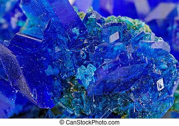 Cristales, azul, vitriol, -, cobre, sulfate