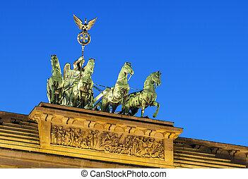 Brandenburg Gate, Berlin - The Brandenburg Gate is a former...