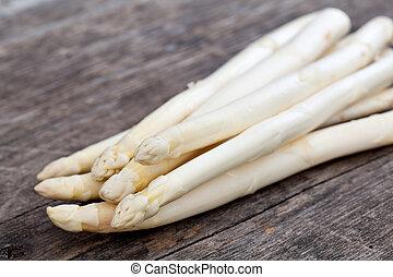 white asparagus - fresh white asparagus