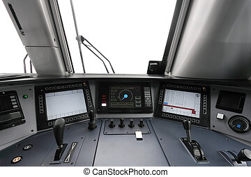 trane operators cab - Interior of a trane operators cab