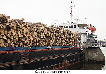timber ship - The image of a timber ship