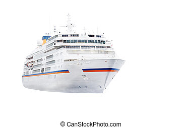 cruise ship - The image of a cruise ship isolated under the...