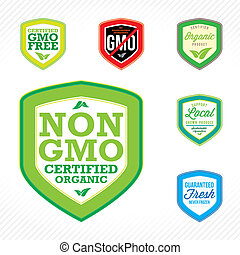 Non GMO Labels - Non GMO or GMO free labels to indicate non...