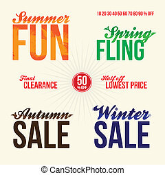 Sale Promo Elements - Promotional sale elements for signage...