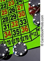 Gambling game in dark concept - Gambling games