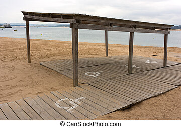 Accesible beach - Beach access ramp for wheelchair in...