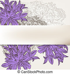 Beautiful floral background for design - Vintage vector...