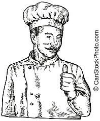 chef, Cuoco, panettiere